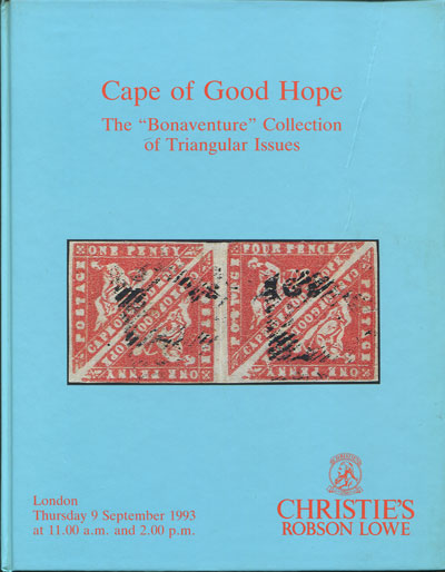 1993 (9 Sep) Cape of Good Hope. - The Bonaventure Collection of Triangular Issues.