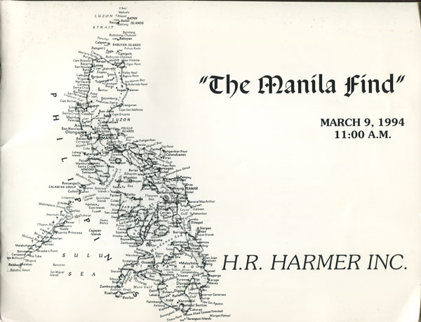 1994 (9 Mar) The Manila Find.
