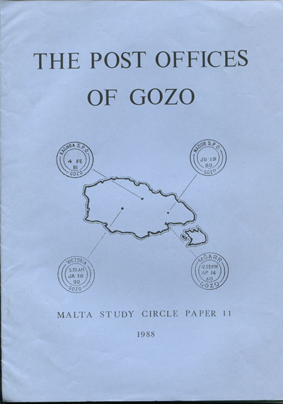 MALTA STUDY CIRCLE The Post Offices of Gozo.
