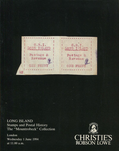 1994 (1 Jun) Long Island. Stamps and postal history. - The Mountrobeck collection.