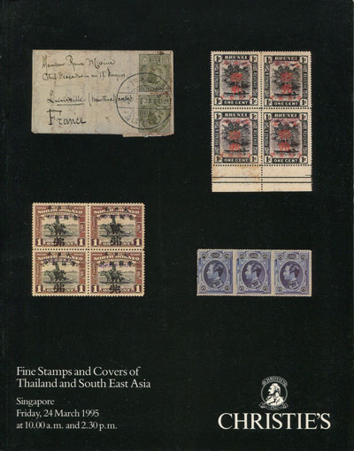 1995 (24 Mar) Fine stamps and covers of Thailand and South East Asia.