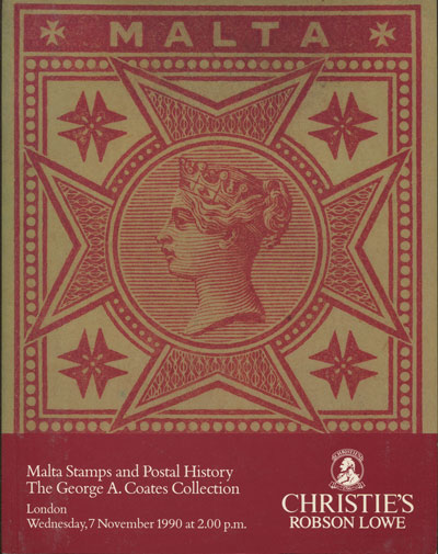 1990 (7 Nov) Malta stamps and postal history. - The George A. Coates Collection.