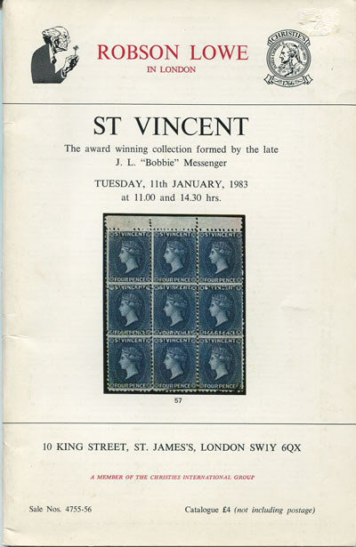 1983 (11 Jan) St Vincent. - The award winning collection formed by the late J.L. Bobbie Messenger.