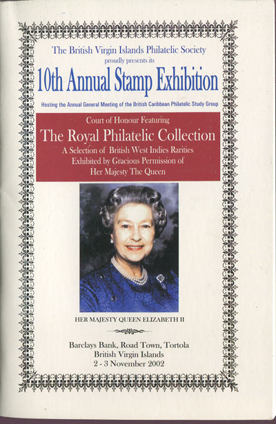BRITISH VIRGIN ISLANDS PHILATELIC SOCIETY 10th Annual Stamp Exhibition.