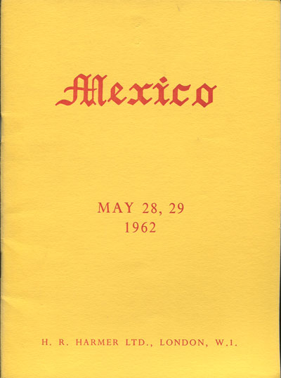 1962 (28-29 May) Mexico collection of Professor Hormer Lizama.