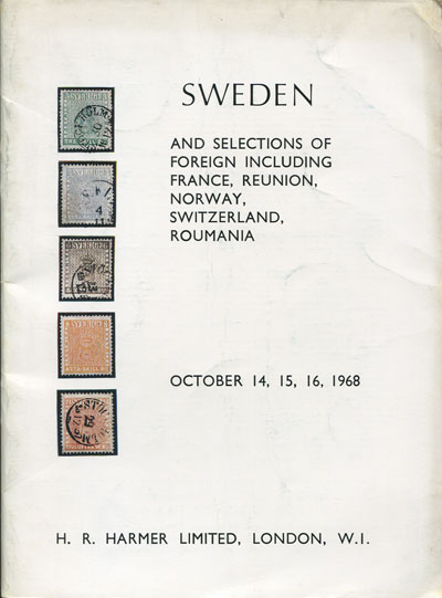 1968 (14-16 Oct) Sweden and selections of foreign. - Includes J.M. Milner collection.