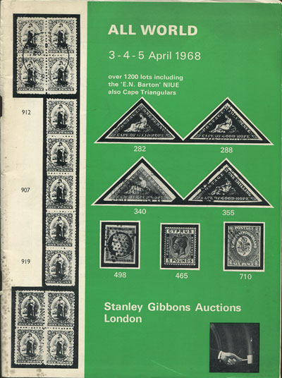 1968 (3-5) Apr All World including E.N. Barton Niue.