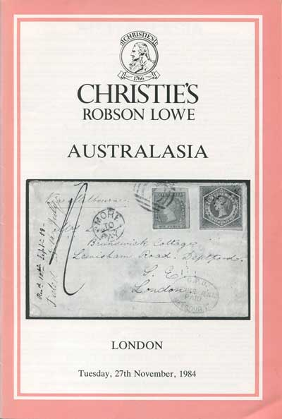 1984 (27 Nov) Australasia - incl. Dr W.R.D. Wiggins New South Wales and J.R.W. Purves Victoria + Mark Strutt British Solomon Islands.