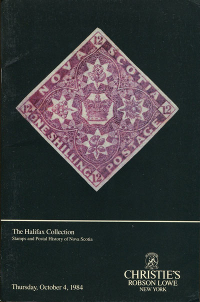 1984 (4 Oct) Halifax collection of stamps and postal history of Nova Scotia.