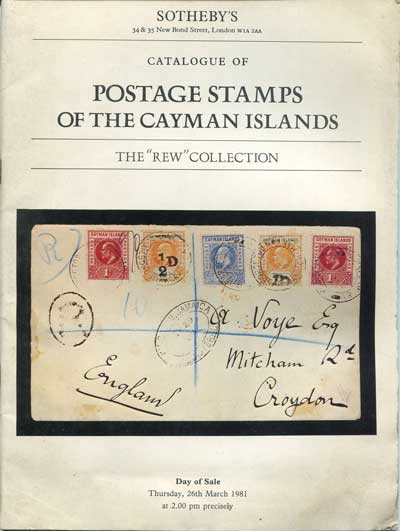 1981 (26 Mar) Postage stamps of the Cayman Islands.