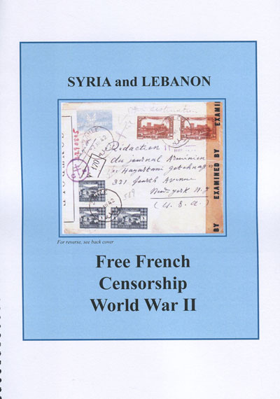 ROBERTSON William C. Free French Censorship World War II. 1941-1945.