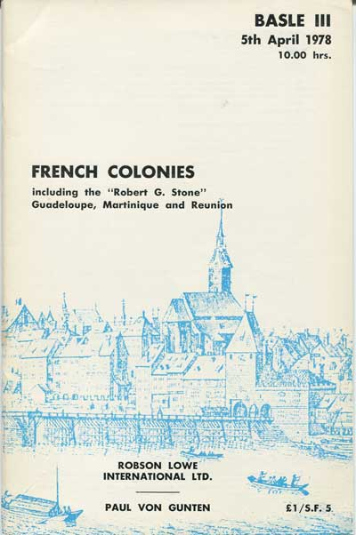 1978 (5 Apr) French Colonies including the Robert G. Stone Guadeloupe, Martinique and Reunion.