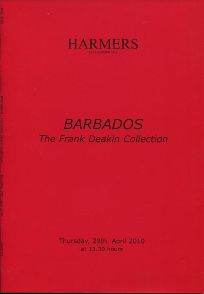 2010 (29 Apr) Barbados. The Frank Deakin Collection.