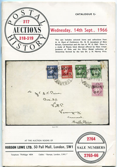 1966 (14 Sep) Postal History Auction