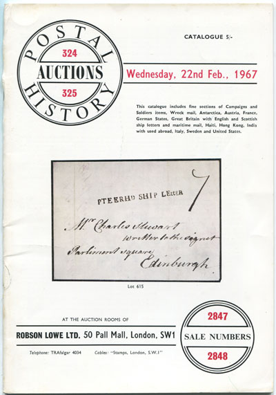 1967 (22 Feb) Postal History Auction
