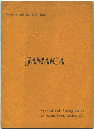 1940 (14-15 Feb) Jamaica handstruck stamps and cancellations incl. the collection formed by L.C.C. Nicholson