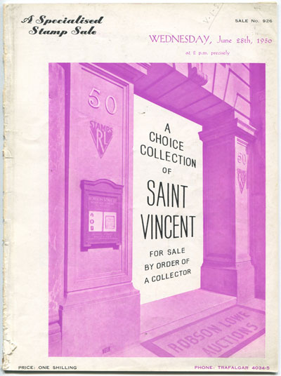 1950 (28 Jun) A Choice Collection of St Vincent