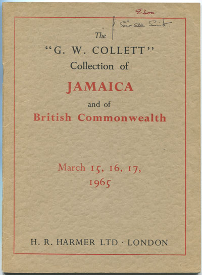 1965 (15-17 Mar) G.W. Collett collection of Jamaica and Br Commonwealth.