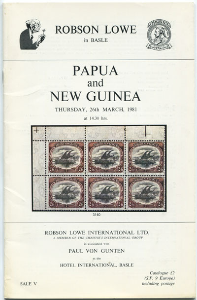 1981 (26 Mar) Papua New Guinea.
