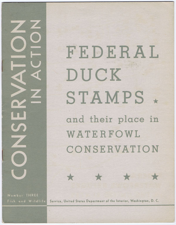 SATER Edna N. Federal Duck Stamps - and their place in Waterfowl Conservation.