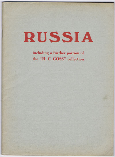 1958 (19 Nov) H.C. Goss Russia with Wenden, China, Levant and Poland.