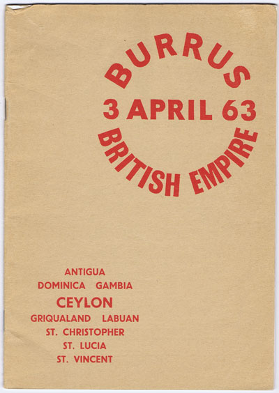 1963 (3 Apr) Burrus British Empire.