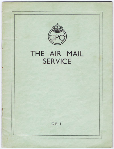 WILLIAMSON Sir Frederick The Air Mail Service.