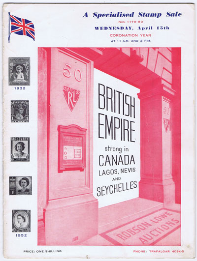 1953 (15 Apr) British Empire strong in Canada, Lagos, Nevis and Seychelles.