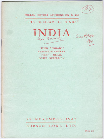 1957 (27 Nov) William C. Hinde India