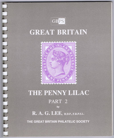 LEE R.A.G. Great Britain. The Penny Lilac. - Part 2 - Damage and minor varieties of the four segments, letters and ovals.