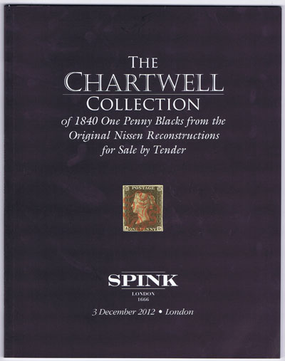 2012 (3 Dec) Chartwell collection of 1840 One Penny Blacks - from the original Nissen reconstructions for sale by tender.