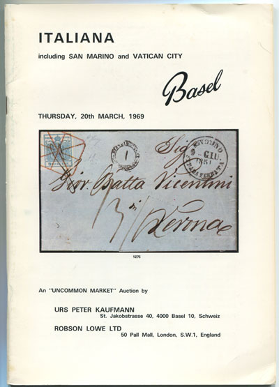 1969 (20 Mar) Italiana including San Marino and Vatican City.