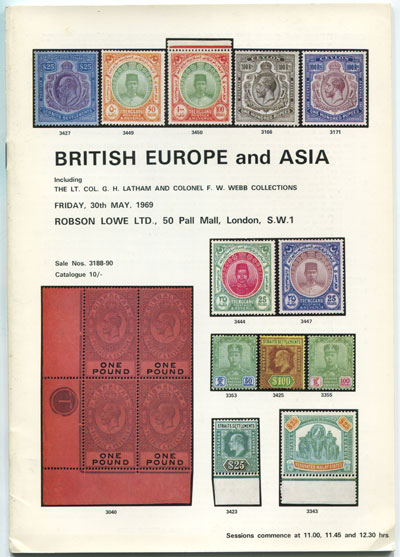 1969 (30 May) British Europe and Asia.