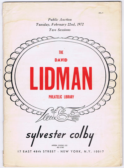 1972 (22 Feb) David Lidman philatelic library.