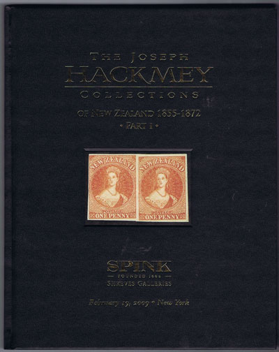 2009 (19 Feb) The Joseph Hackmey Collections of New Zealand 1855-1872 Part I.