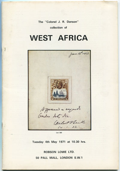 1971 (4 May) Colonel J.R. Danson collection of West Africa.