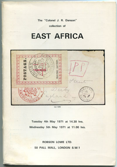 1971 (4-5 May) Colonel J.R. Danson collection of East Africa.