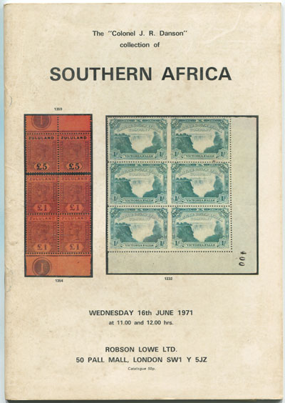 1971 (16 Jun) Colonel J.R. Danson collection of Southern Africa.