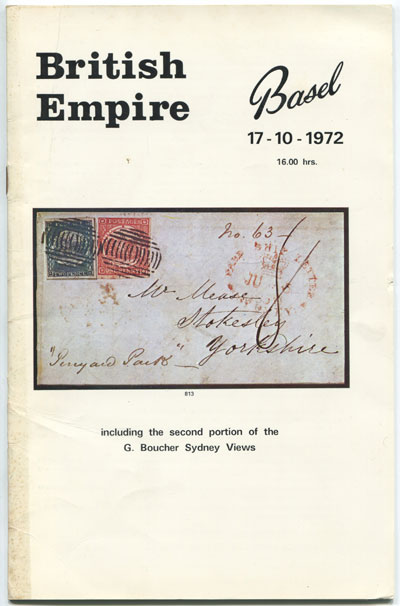 1972 (17 Oct) British Empire including G. Boucher Sydney Views.