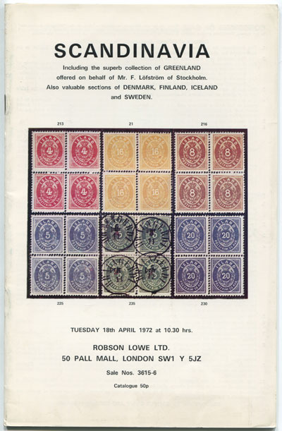1972 (18 Apr) Scandinavia including superb Greenland offered by F. Lofstrom of Stockholm.