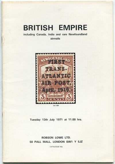 1971 (13 July) British Empire incl. Canada, India and rare Newfoundland Airmails.