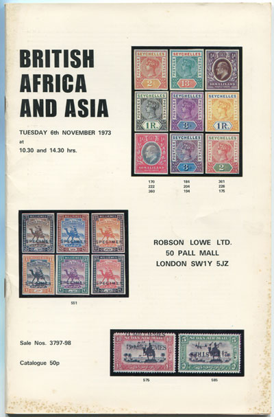1973 (6 Nov) British Africa and Asia.