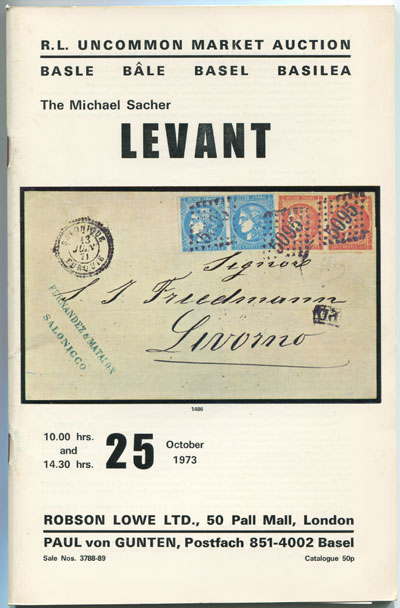 1973 (25 Oct) Michael Sacher Levant.