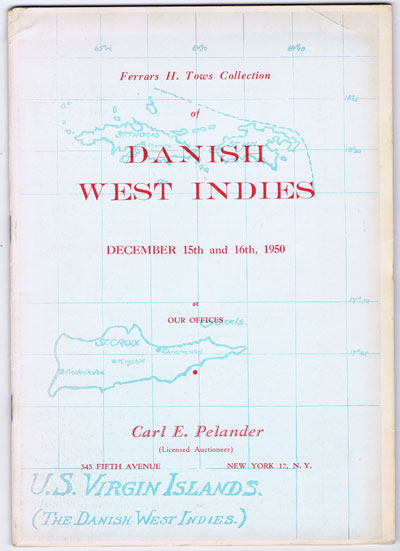1950 (15-16 Dec) Ferrars H. Tows collection of Danish West Indies.