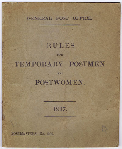 ANON Rules for temporary postmen and postwomen.