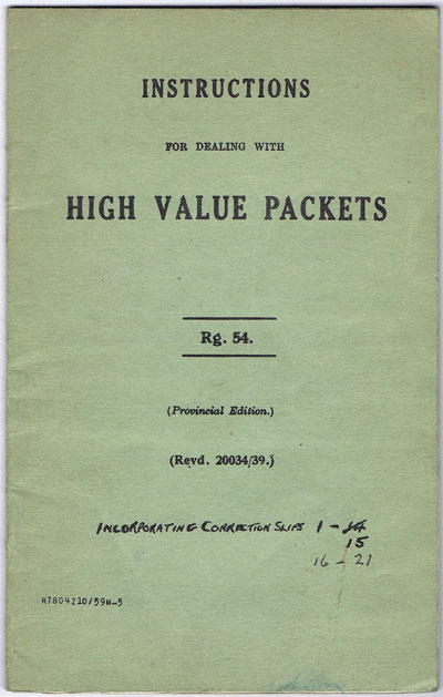 ANON Instructions for dealing with high value packets.