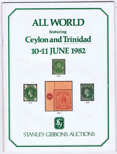 1982 (10-11 June) All World featuring Ceylon and Trinidad.