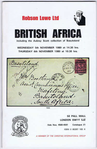1980 (5 Nov) British Africa including the Aubrey Scott collection of Basutoland.