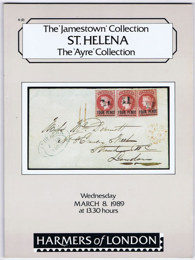 1989 (8 Mar) Jamestown collection of St Helena and Ayre collection.