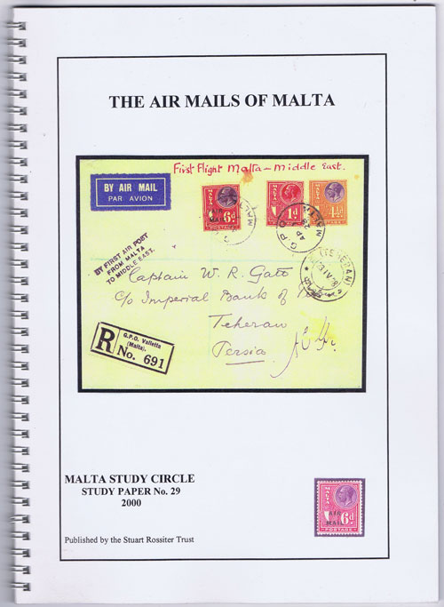 WARD D. The Air Mails of Malta.